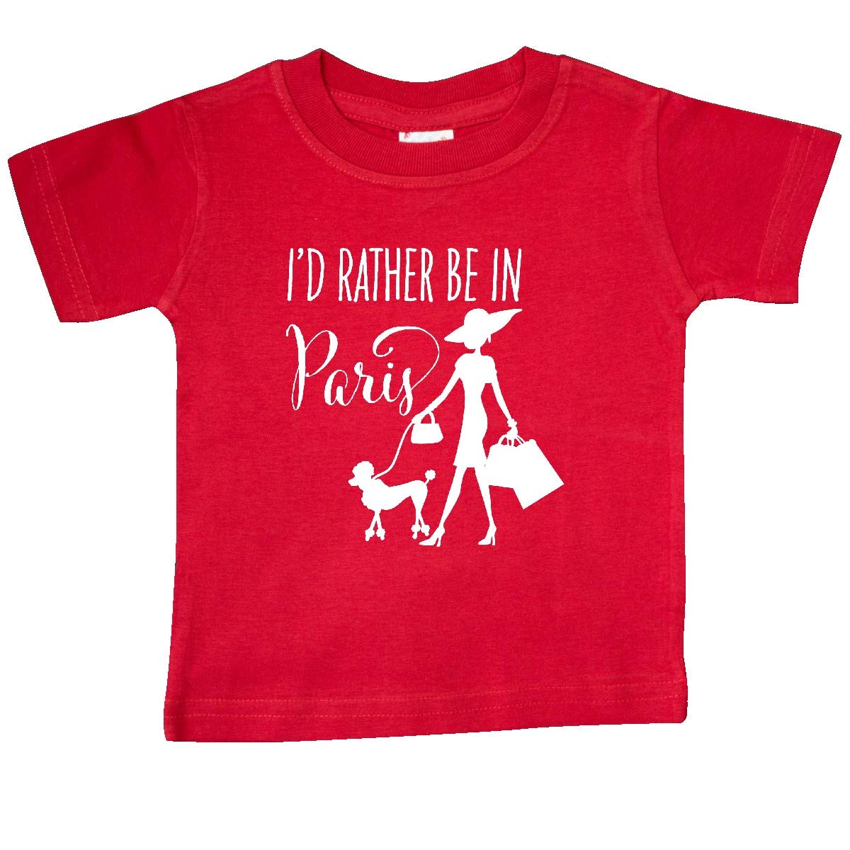 Shopping and Travel Baby T-Shirt inktastic Id Rather Be in Paris