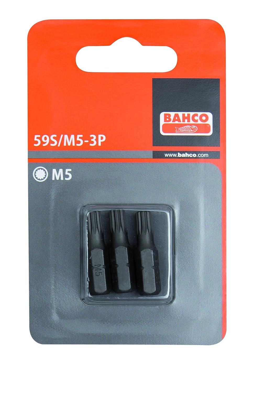 Bahco 59S/M6-3P - Carton 3 Puntas Xzn M6 25Mm 1/4 Std