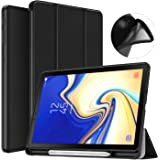 MoKo Case for Samsung Galaxy Tab S4 10.5 with S Pen Holder, Soft TPU Ultra Thin Slim Trifold Smart Stand Cover with Auto Wake/Sleep for Galaxy Tab S4 10.5 Inch 2018 (SM-T830/T835/T837) Tablet - Black