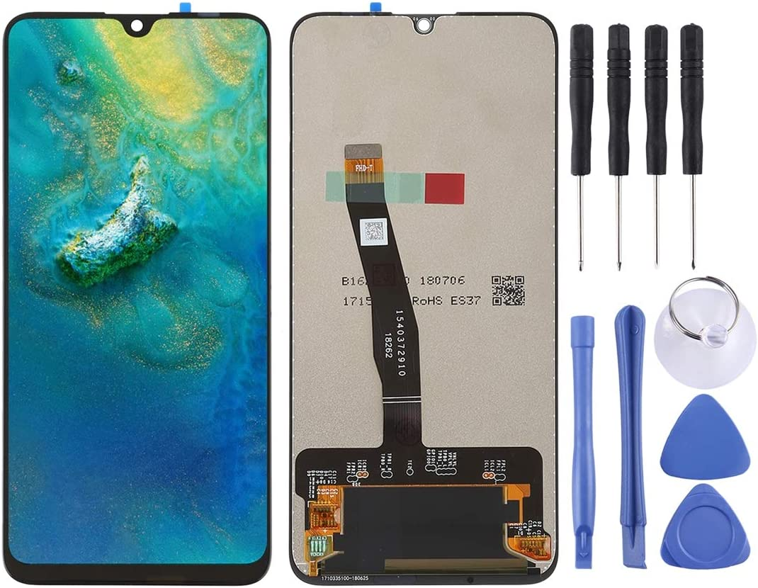 Color : Black Smartillumi for Spare Part LCD Screen and Digitizer Full Assembly for Huawei Honor 10 Lite//Honor 20i Black