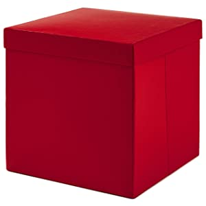 Hallmark Large Gift Box with Lid for Birthdays, Bridal Showers, Weddings, Baby Showers and More (Red)