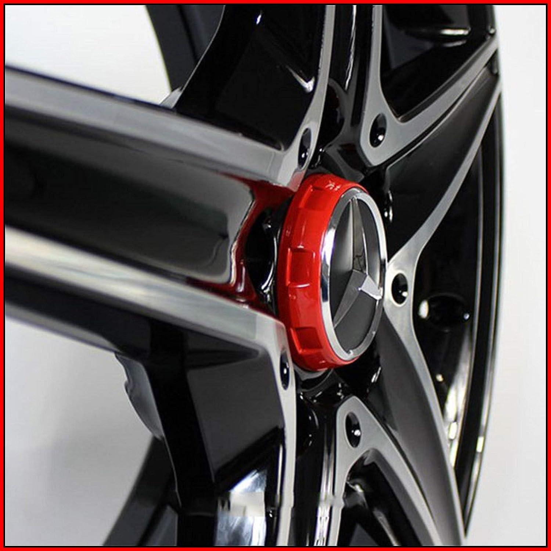 4 St/ück AMG Radnabenabdeckung F/ür Mercedes-Benz Rot Silber Stern Nabendeckel 75mm Nabenkappen Radkappen A0004000900 3594 im Zentralverschlussdesign sportlichen Akzent