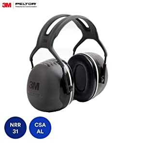3M PELTOR X5A Over-the-Head Ear Muffs, Noise Protection, NRR 31 dB, Construction, Manufacturing, Maintenance, Automotive, Woodworking, Heavy Engineering, Mining
