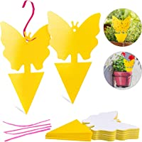 Yellow Sticky Traps,Gnat Traps Indoor & Outdoor ,Capturing Flying Plant Insects Like Fungus Gnats, Flying Aphid…