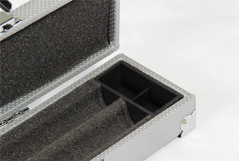color plata 3 piezas larga con esquinas reforzadas Funda para palos de snooker de 3//4 dura