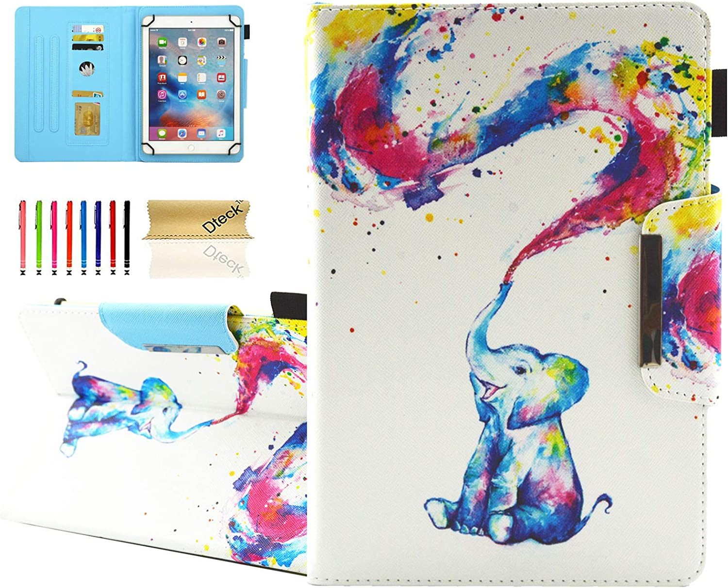 Dteck Universal Case for 7.5-8.5 Inch Tablet - PU Leather Stand Wallet Case Cover for iPad Mini 7.9