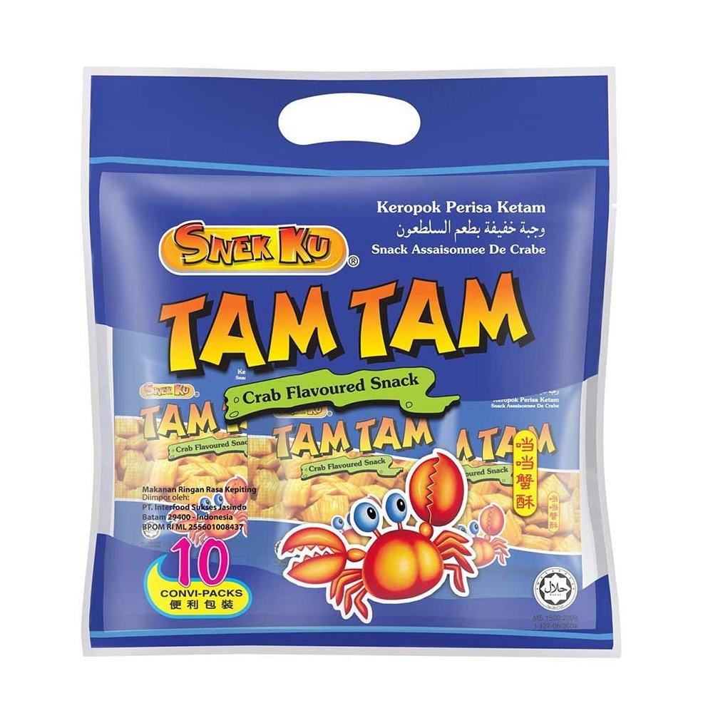 Amazon Com Snek Ku Snack 628mart Tam Tam Crab 48 Packs X 25g