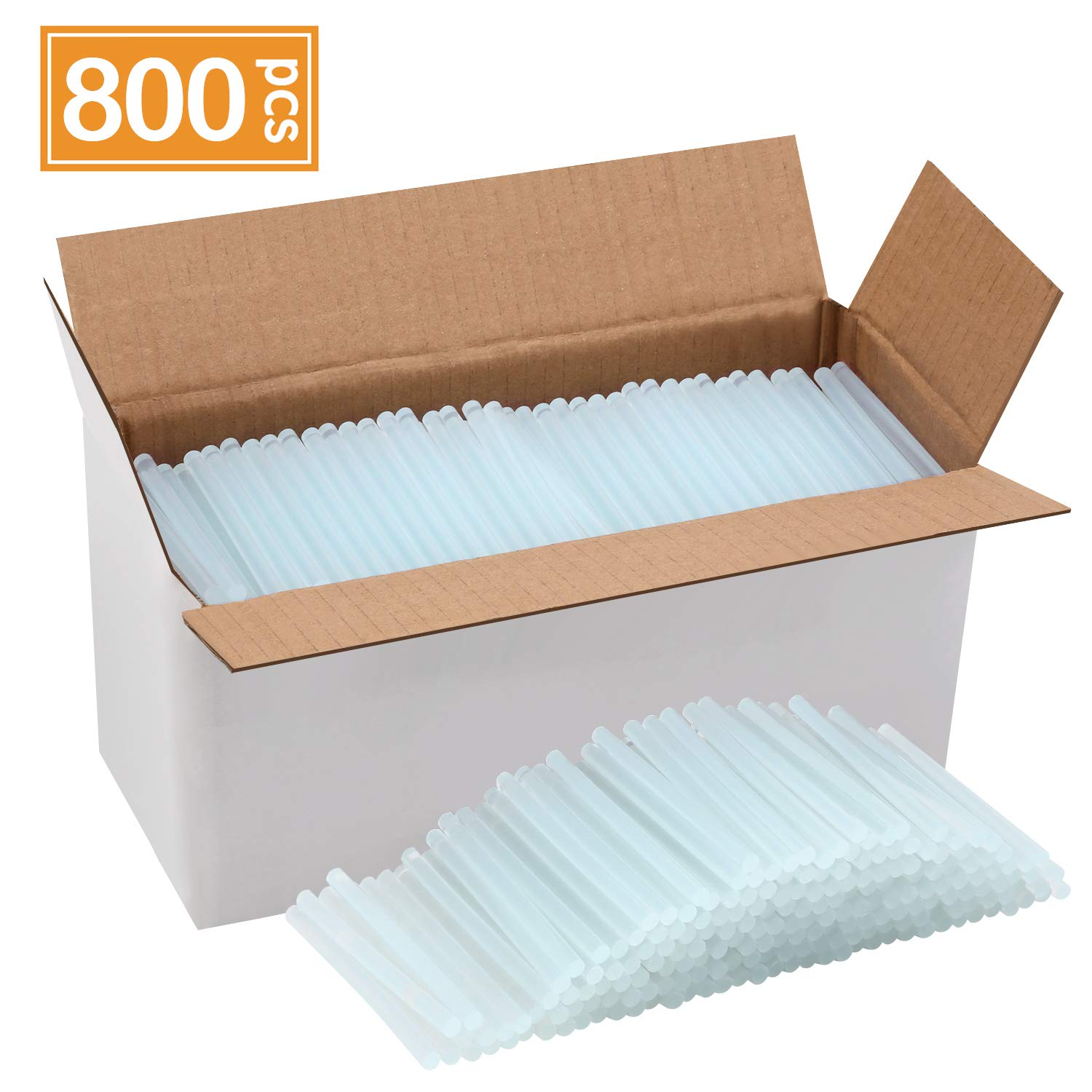 Magicfly Hot Glue Gun Sticks, Huge Pack of 800, 4 Inch Long and 0.27 Inch Diameter Mini Hot Melt Glue Sticks, Compatible with Most Glue Guns, for DIY Craft Projects and Sealing