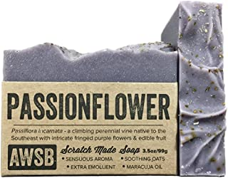 product image for Passionflower Bar Soap with Ylang Ylang, Vegan, All Natural with Organic Ingredients, Handmade by A Wild Soap Bar