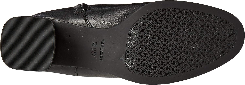 Geox Damen D Calinda Mid C Hohe Stiefel Schwarz Black C9999
