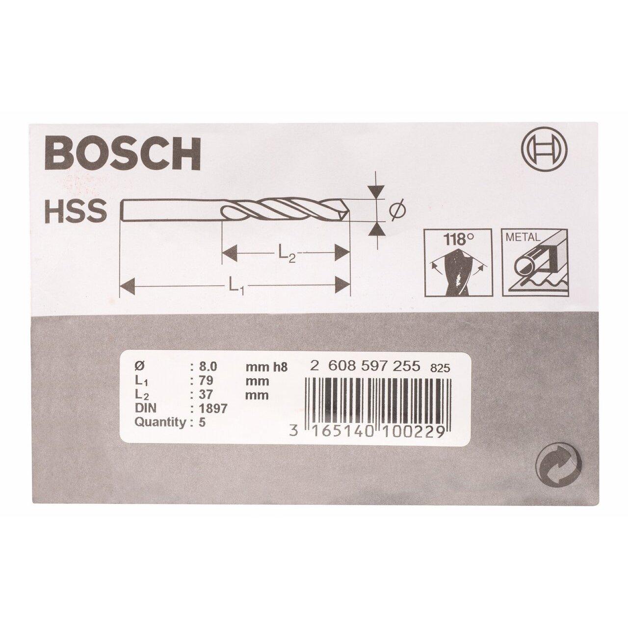 Bosch Professional Karosseriebohrer HSS-R rollgewalzt 10 St/ück, /Ø 3,2 mm