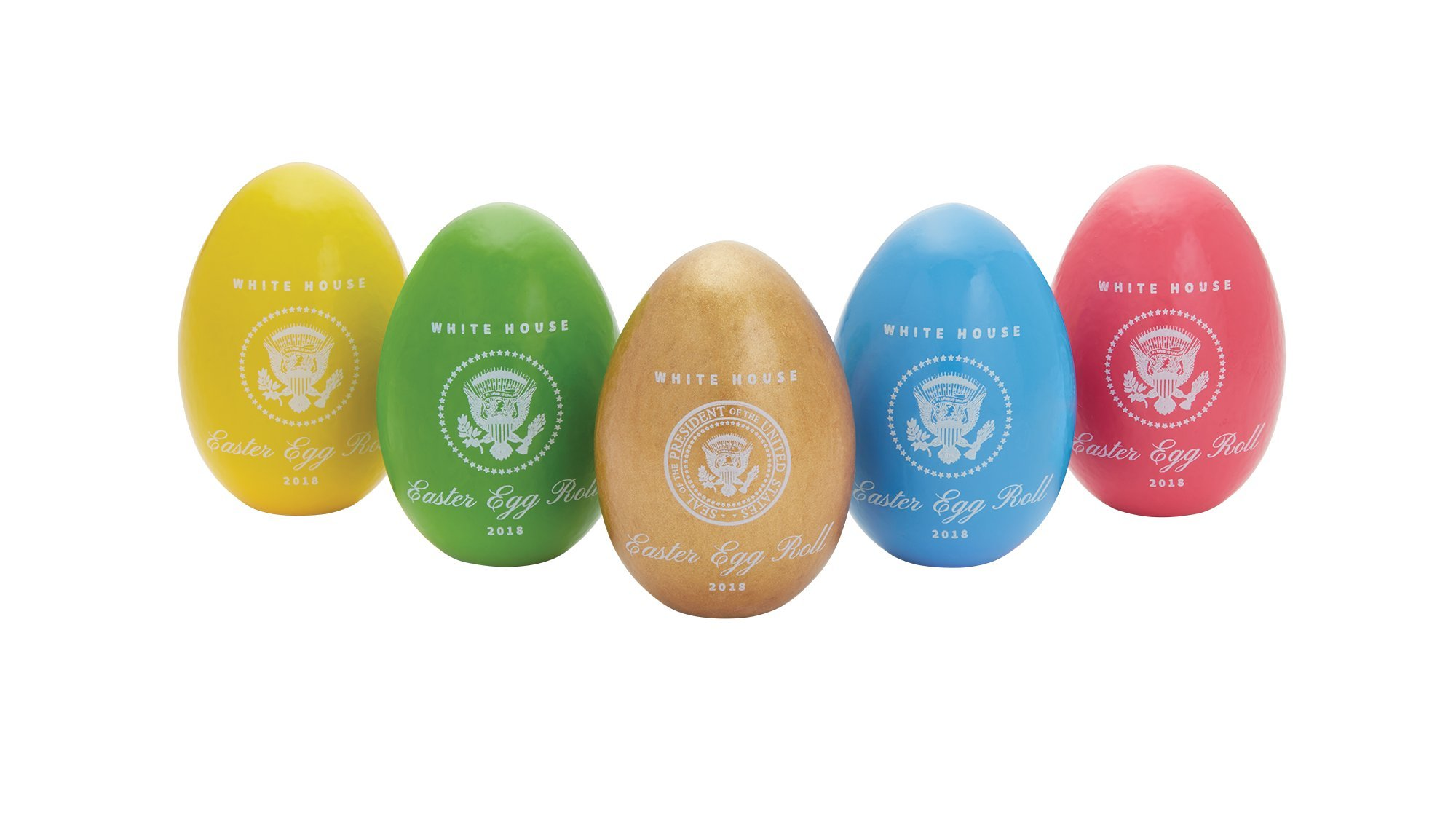 Official 2018 White House Easter Egg Set