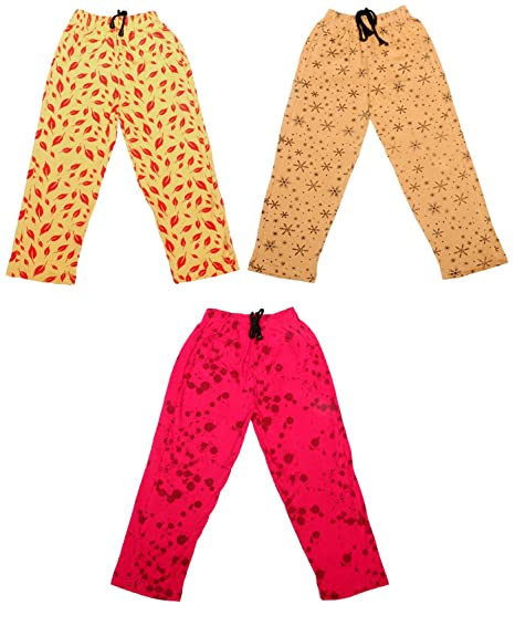 Pack Of 4 Indistar Girls 2 Cotton Solid Legging Pants and 2 Cotton Printed Legging Pants /_Multicolor/_Size-11-12 Years/_71409101920-IW-P4-34