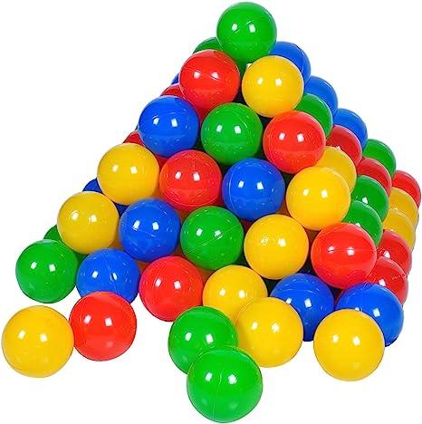500 Bälle in knalligen Farben Ø6cm Knorrtoys Bälleset für Bällebäder ca