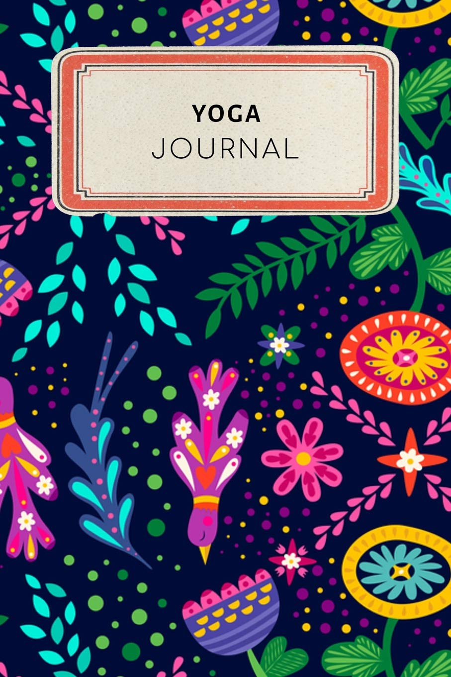 Yoga Journal: Cute Floral Dotted Grid Bullet Journal ...