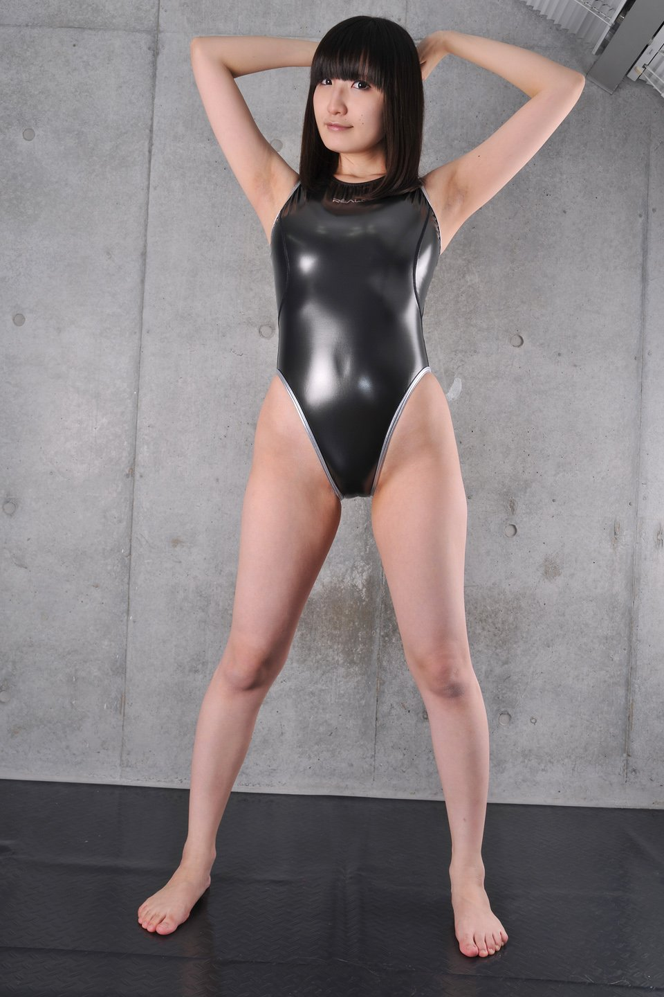 girl leotards Asian shiny