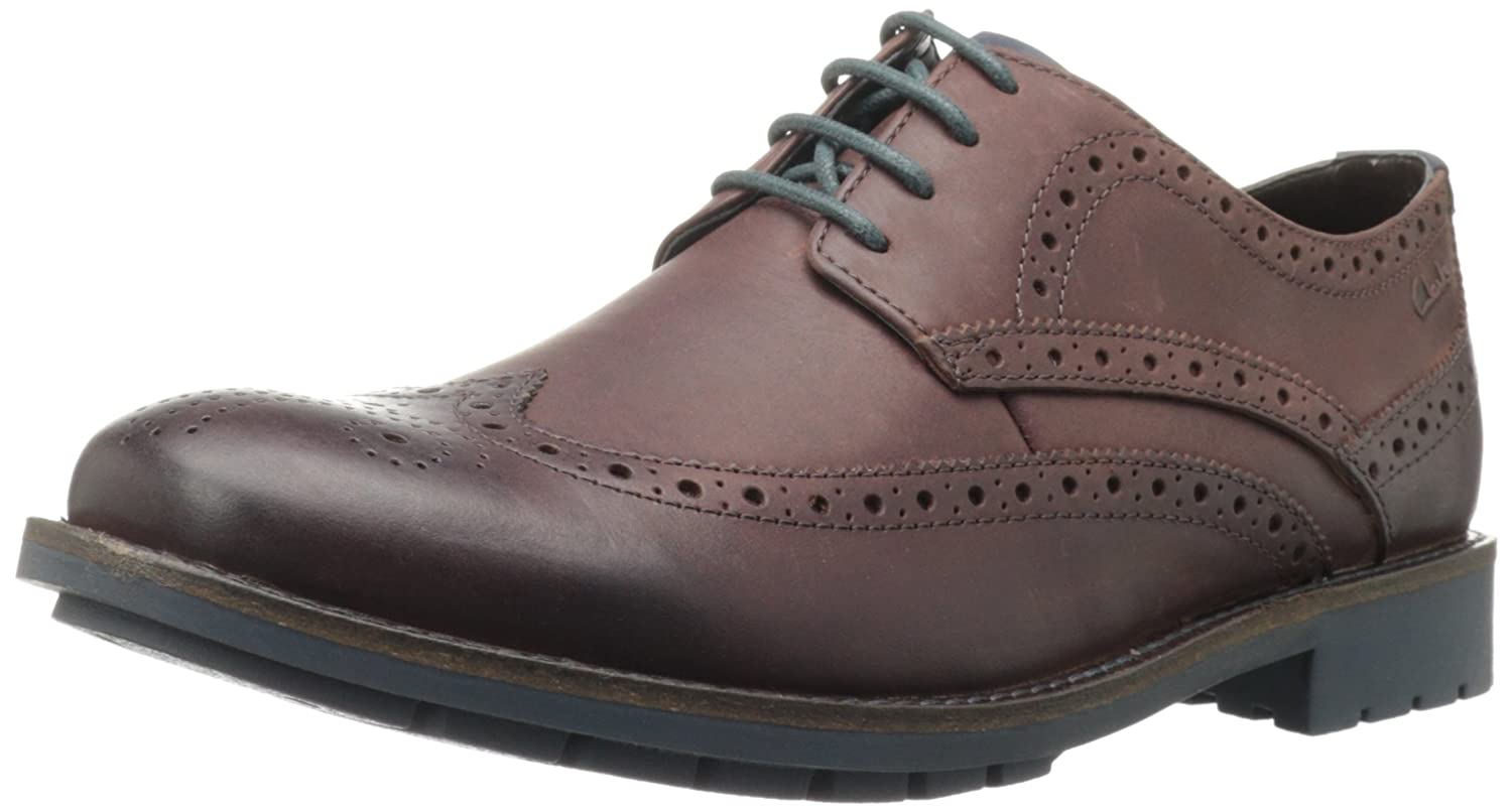 Amazon.com | Clarks Men's Garnet Limit Oxford, Chestnut Leather, 7.5 M US |  Oxfords