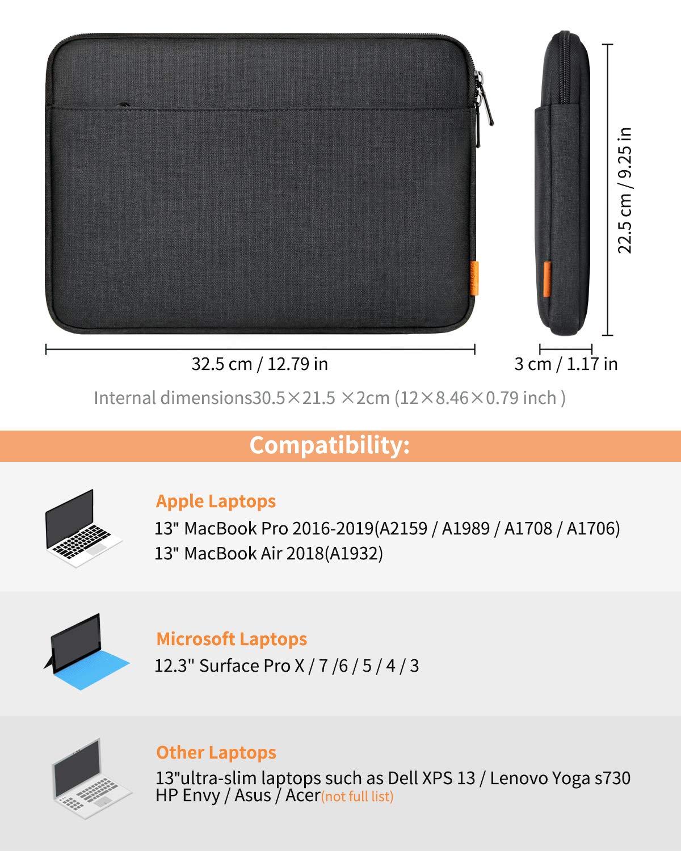 Compatible con MacBook Air 2018//2019 de 13 Inateck Funda Protectora Bolsa Tipo Sleeve para Port/átiles de 13-13.3 Pulgadas Surface Pro X//7//6//5//4//3 MacBook Pro 2019//2018//2017//2016 de 13