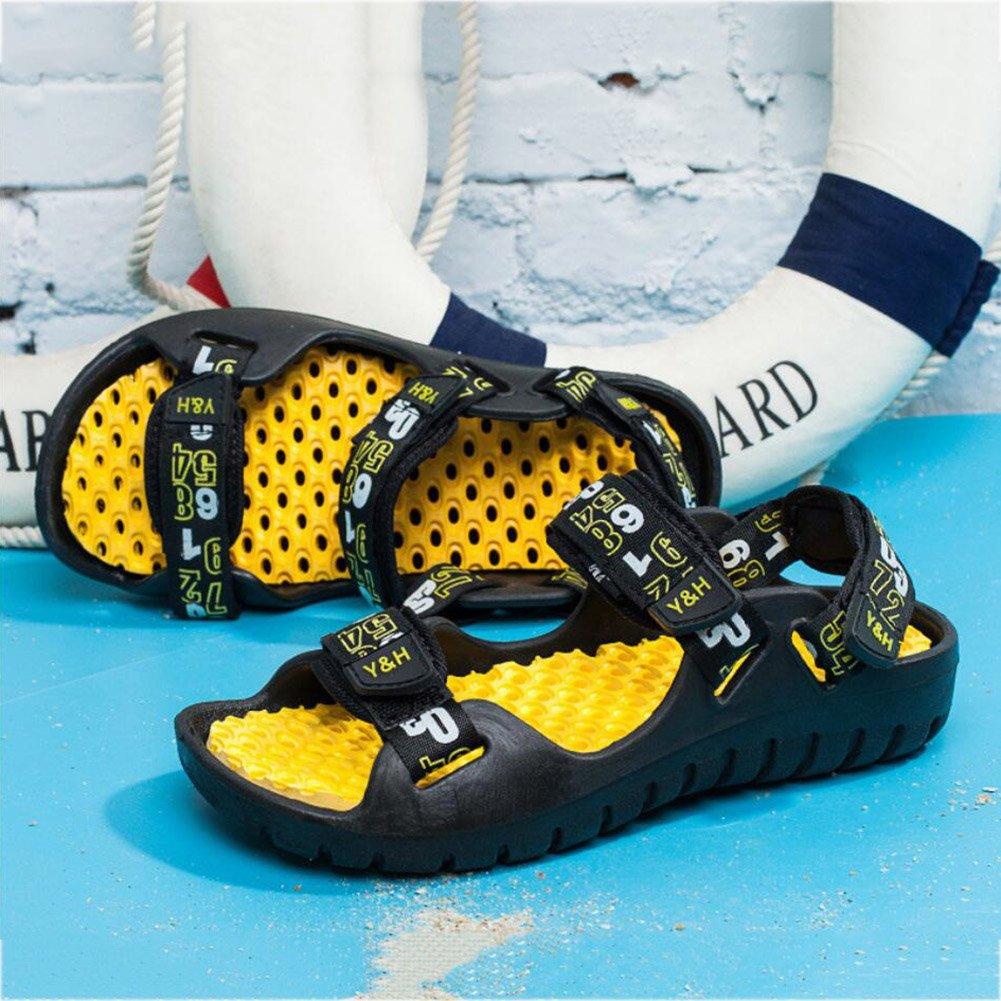 YaXuan Sommer Neue Männer Sandalen Outdoor Rutschfeste Ausgesetzt Zehe Sandalen Outdoor Sandalen Leak Toe Dual-Use Strand Schuhe Komfortable Klettverschluss Sport Wanderschuhe (Farbe : Rot, Größe : 42) Gold 49dd25