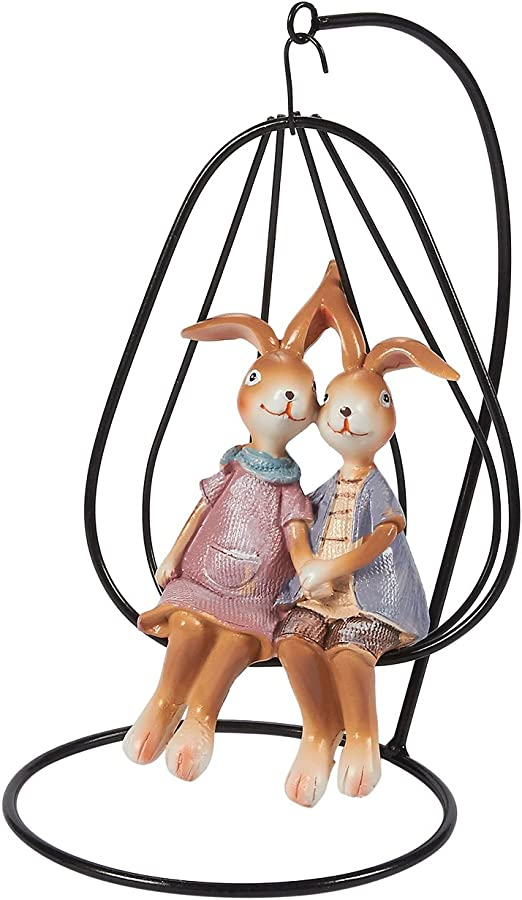 Juvale Easter Bunny Figurines Decorations for Home and Garden 2 Inches, 2-Set