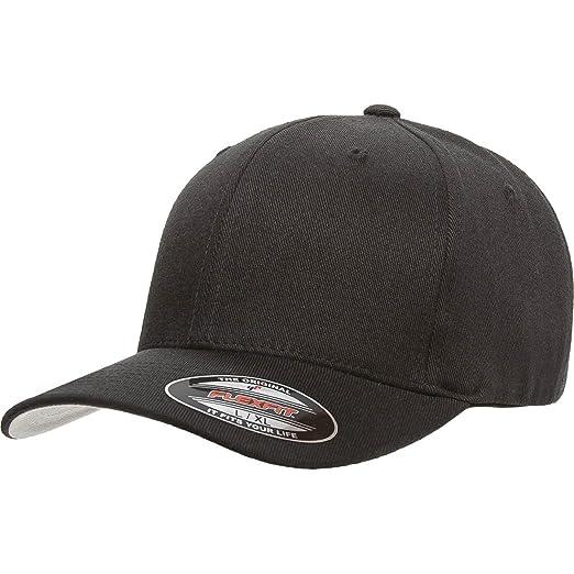 6304bf5d00f Amazon.com  Yupoong Flexfit 6477 Flexfit Wool Blend Hat Cap  Clothing
