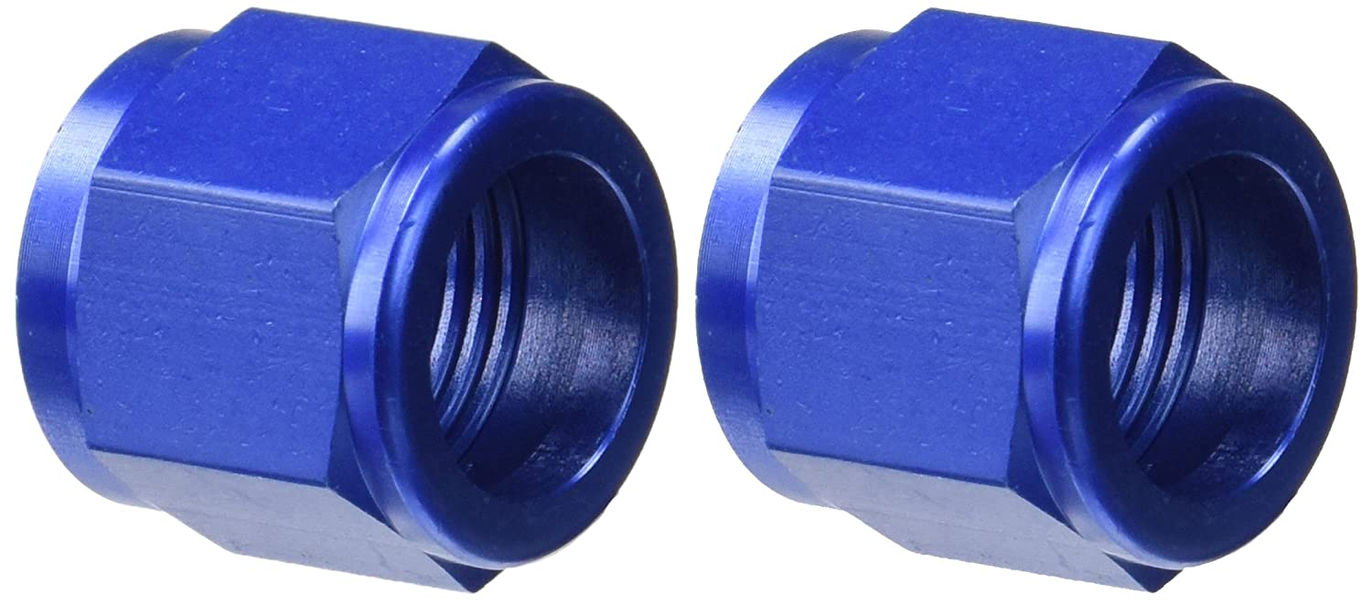 10AN Tube Nuts Aeroquip FCM3677 Blue Anodized Aluminum Pack of 2