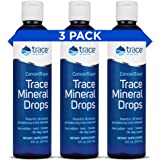 Concentrace Trace Minerals Drops (8oz, 3 Pack) - #1 Trace Minerals Supplement - Complete Mineral Complex for Energy, Hydratio