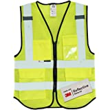 Salzmann 3M Multi-Pocket Safety Mesh Vest | High Visibility Reflective Mesh Vest | Made with 3M Reflective Material…