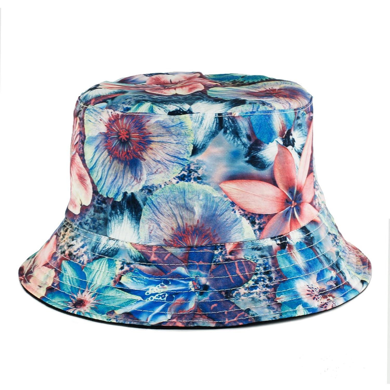 UER Women Teen Fashion Hawaiian Plant Jungle Print Canvas Bucket Hat