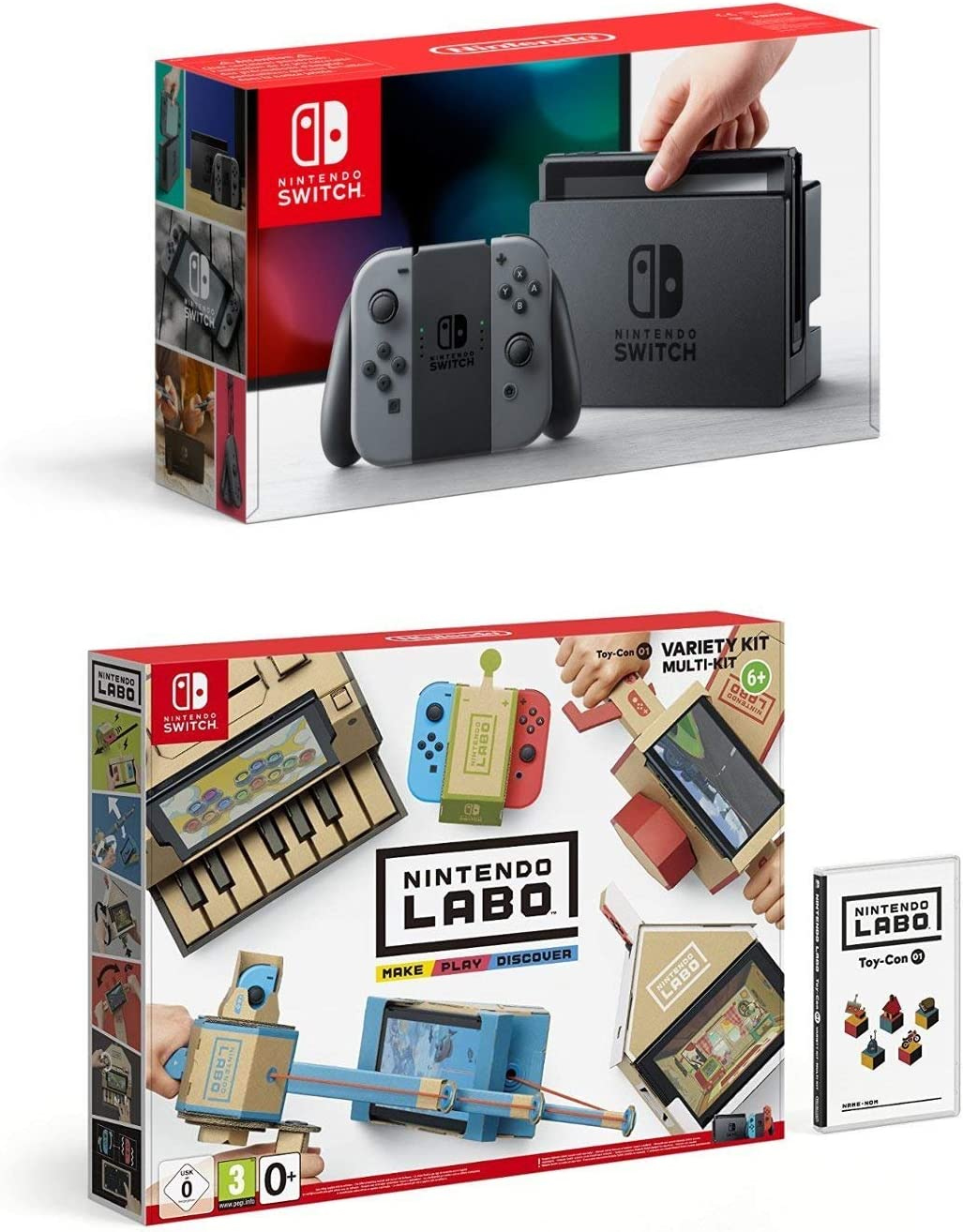 Nintendo Switch - Consola Color Gris + Nintendo Labo: Toy-Con Kit ...