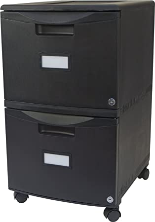 Storex  Drawer Mobile File Cabinet With Lock    Inches