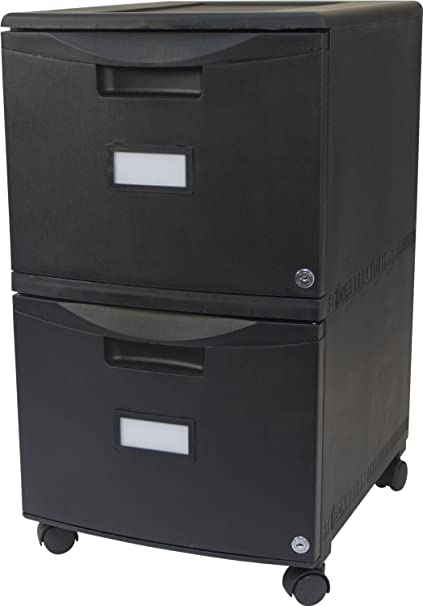 Amazoncom Storex 2 Drawer Mobile File Cabinet With Lock 1825 X