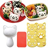 Hofumix Bento Accessories Sushi Mold Rice Ball Mold Cartoon Cat Pattern Sushi Bento Nori Kitchen Rice Decor Kits…
