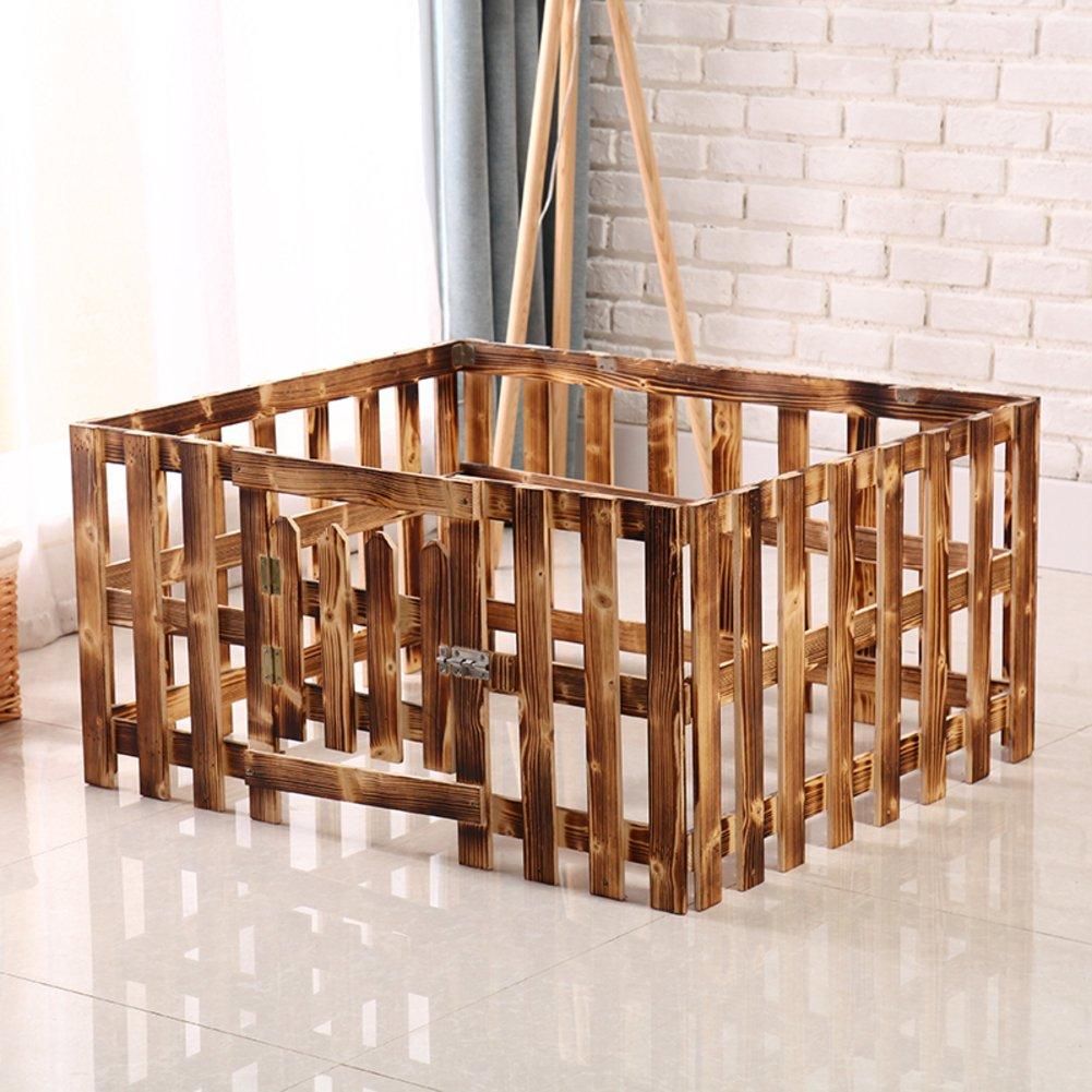 固体木製の犬小屋,室内犬ケージ ペットの巣ケージ ペット ベビー サークル防水ペット ベッド-B 100x65x80cm(39x26x31inch) B07D1MXQQJ