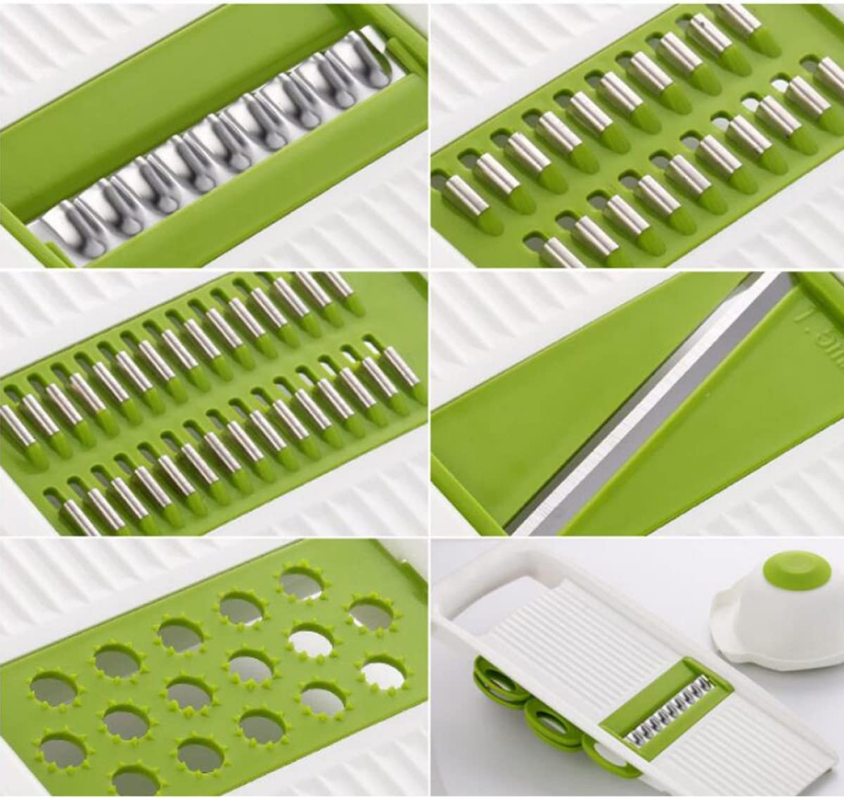 ZAIYI Slicer by Wipes Multifunctional Shredder Menaje De Cocina Potato Shredded Home Slicer Grater Manual,Green Green