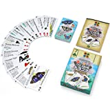 カロラータ トランプ (日本の蝶クイズ付) プラスチック製 日本の蝶 知育ゲーム リアル日本の蝶 トランプ