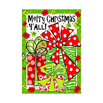 welcome christmas garden flag merry christmas yall outdoors flags of double sided waterproof and