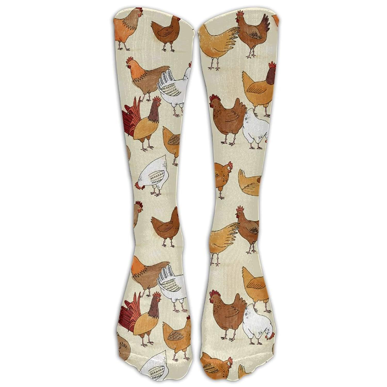 A Brood Of Chickens Unisex Novelty Mid-Calf Socks Athletic Tube Stockings Size 6-10