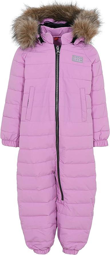 Dark Purple 18-24 Months LEGO Kids Bionic Snowsuit with Detachable Faux Fur Hood Infant Infant//Toddler