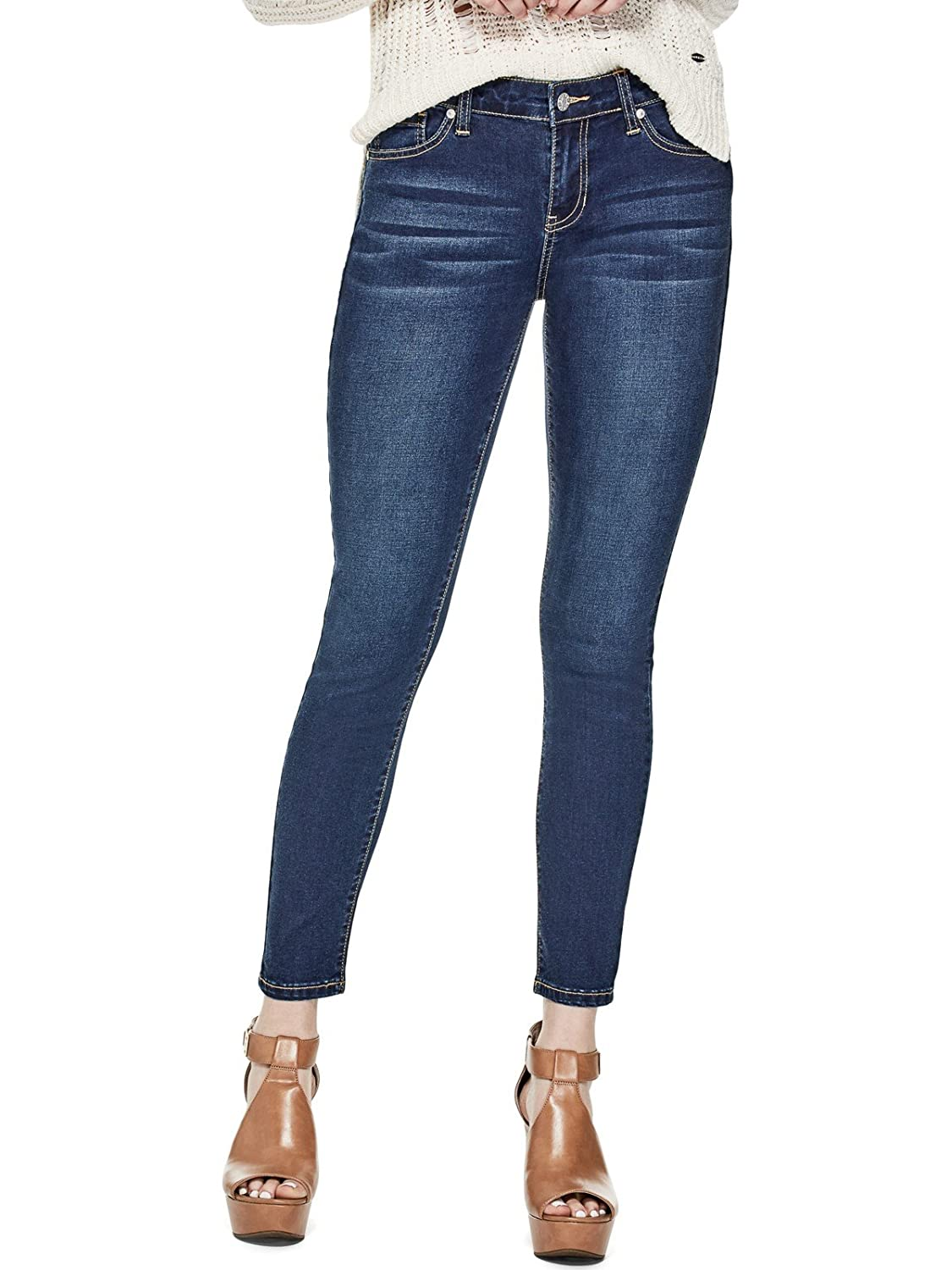 Guess Factory Women's Melanie Mid-Rise Skinny Jeans GuessFactory