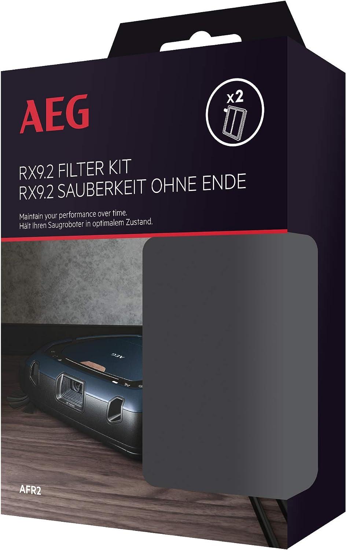 AEG AFR2 Kit de 2 filtros, Compatible con Aspirador Robot RX9.2 ...
