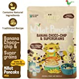 Slurrp Farm Millet Pancake Mix, Banana Choco-chip and Supergrains, 150g