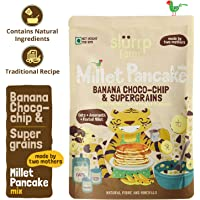 Slurrp Farm Instant Breakfast Millet Pancake Mix | Banana Choco-chip and Supergrains | Natural and Healthy food, 150 gm