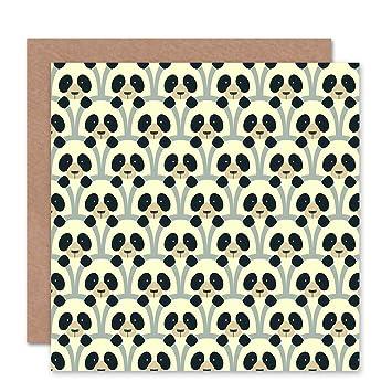 Amazon.com: Nuevo Pandas patrón abstracto felicitaciones ...
