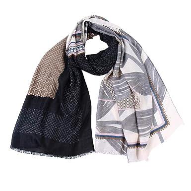 Foulard Echarpes et foulards Echarpe Foulard imprimé feuille d érable pour  femme a96a360b322
