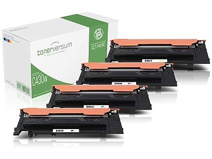 Kit de 4 Cartuchos de tóner para Impresora láser Samsung ...