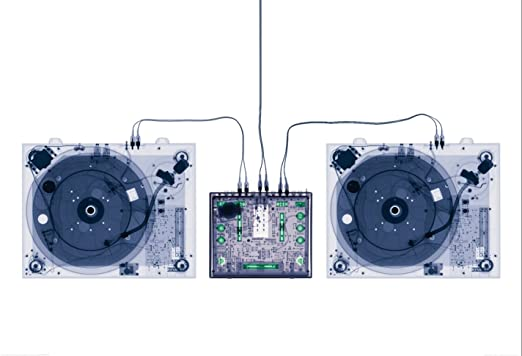 WTD radiografía Tocadiscos mesa de mezclas DJ - tamaño 158 x 232 ...