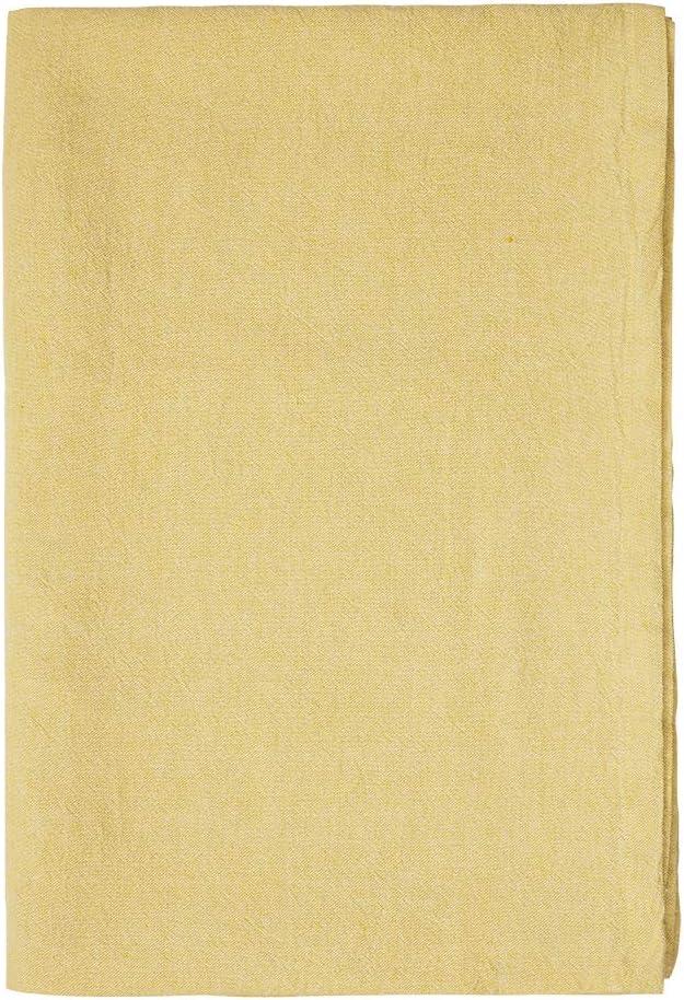 170 x 170 cm Linum Hedvig Tablecloth Linen Light Cypress Green