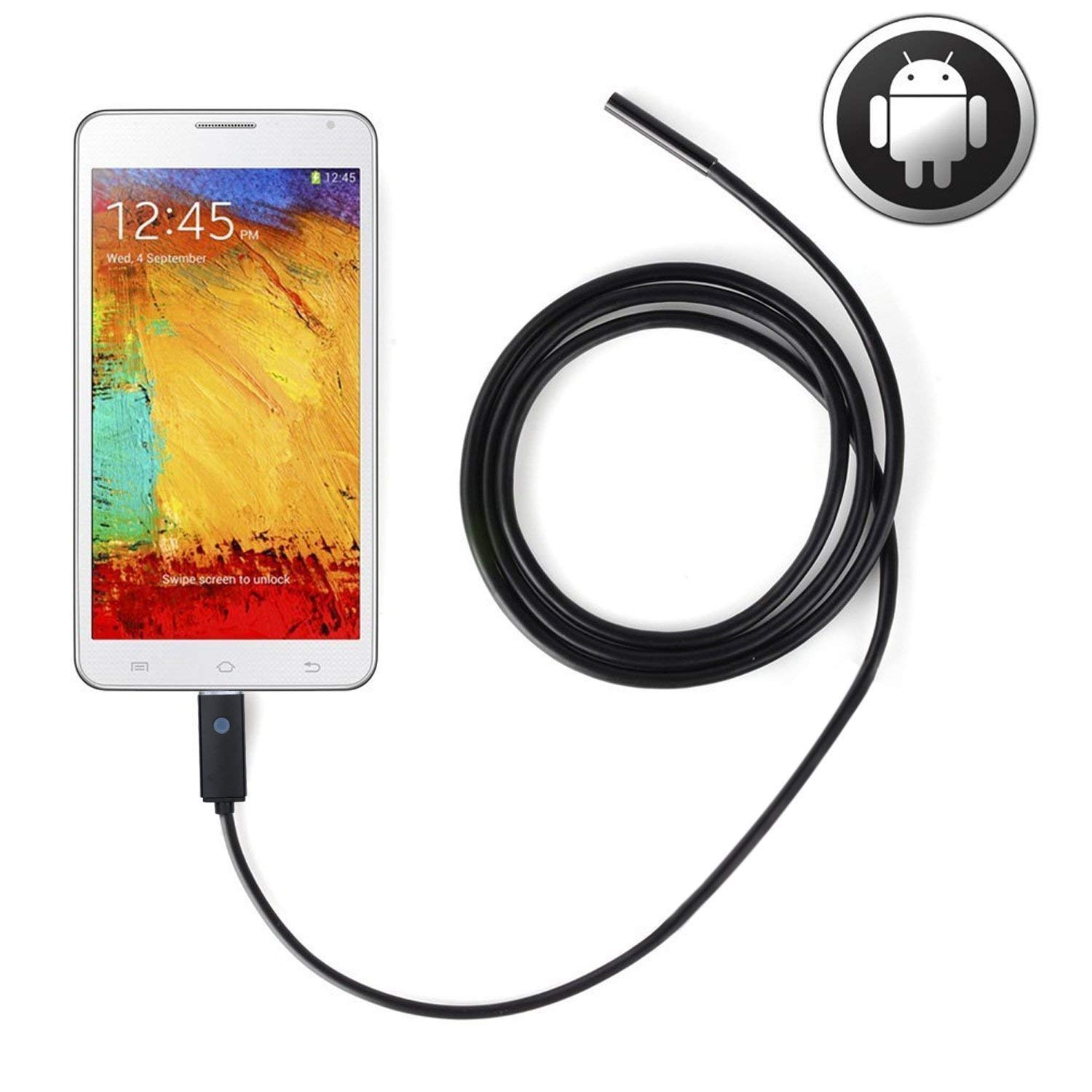 AN99 USB Endoscope 2 in 1 Semi-rigid Borescope Inspection Camera 2.0 Megapixels CMOS HD Waterproof Snake Camera with 6 Adjustable Led Light (10M cable)(7mm) Jefs