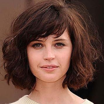 SHKY Pelucas onduladas del pelo corto del estilo de las nuevas de Shoudler Longitud de moda